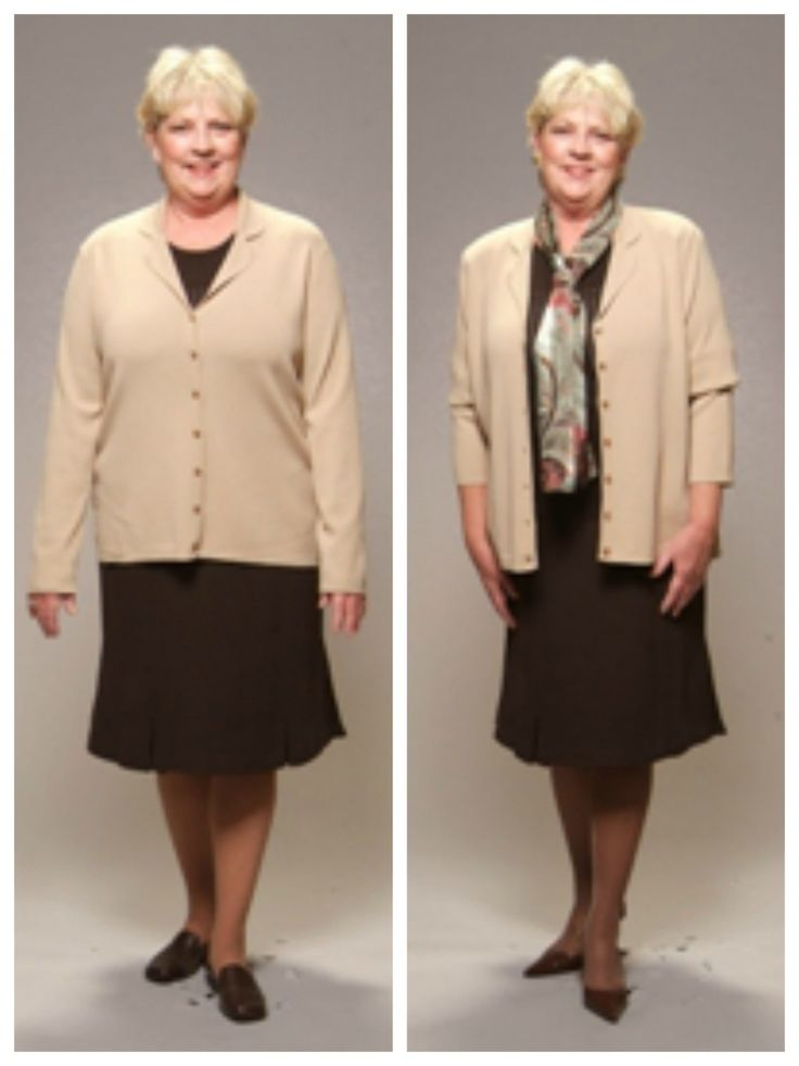 "Style Solution:  It's amazing the difference clothing and accessories can make in how slim and trim a woman looks.  Follow the easy tips listed below to peel off 10 … 15 … even 20 visual pounds – INSTANTLY!   Wear a ""column of color"" – one color head to toe. [...]"