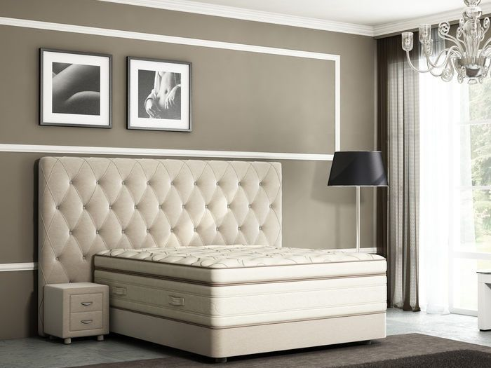Высокая кровать Verda Luxe & Podium (Велсофт)