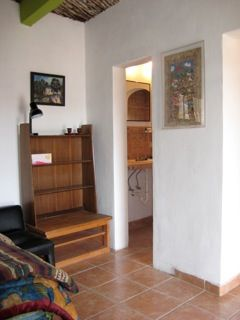 bedroom and door to bath