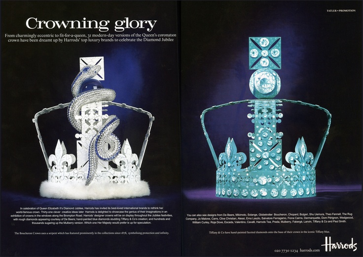 Our base Jubilee crowns decorated by various brands featured in Tatler Magazine!