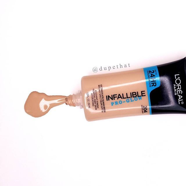 """@lorealmakeup Infallible Pro Glow foundation ($11). Everyone loved the pro matte version but I haaaaated it. When I saw the pro glow one on the shelf while I was headed to the chips aisle, I had to give it a shot. This is hands down the best drugstore foundation I've used. I found myself actually grabbing for it when I was on the go! It's a gorgeous natural glow & not too oily looking, like some """"dewy"""" foundations can be. The coverage is medium and buildable. This is the perfect drugstore…"""