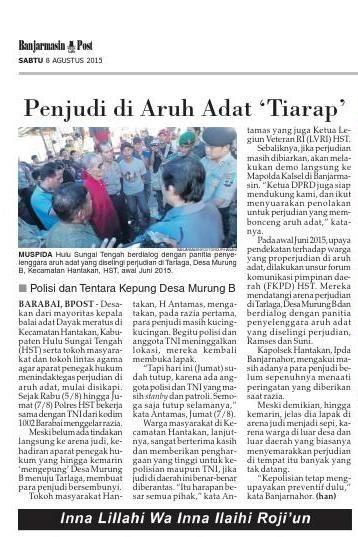 #ClippedOnIssuu from Banjarmasin Post Sabtu, 8 Agustus 2015
