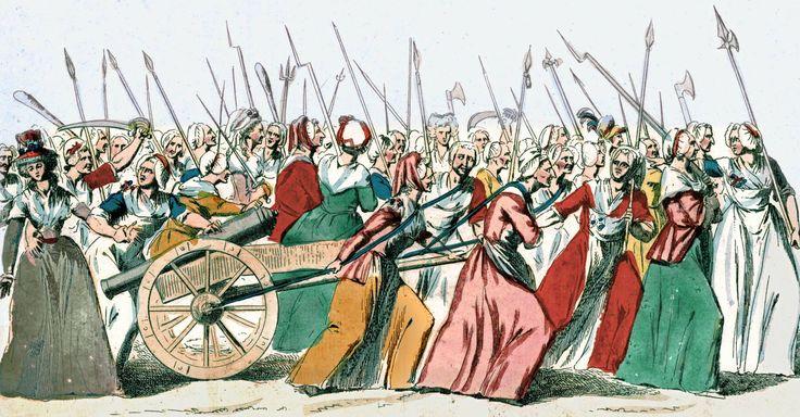 Mujeres en la marcha sobre Versailles el 5 y 6 de octubre de 1789.