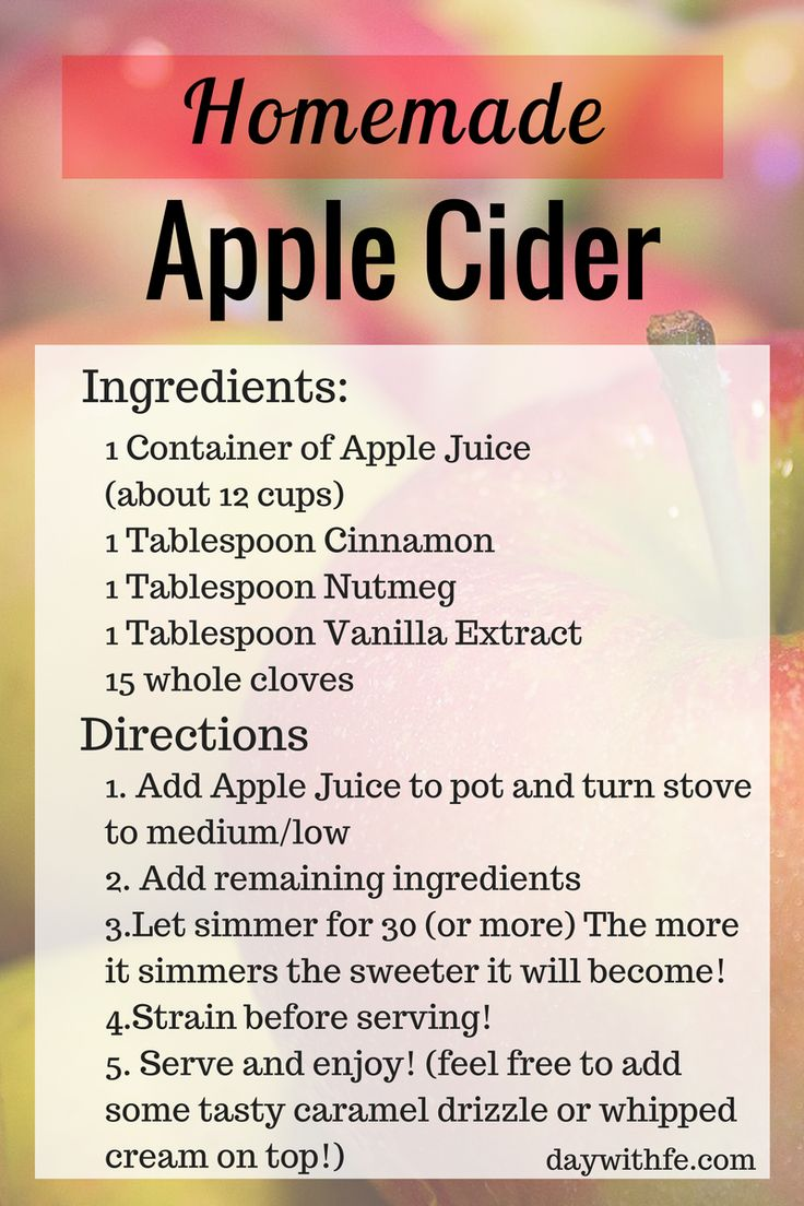 homemade Apple Cider from Apple Juice                                                                                                                                                                                 More