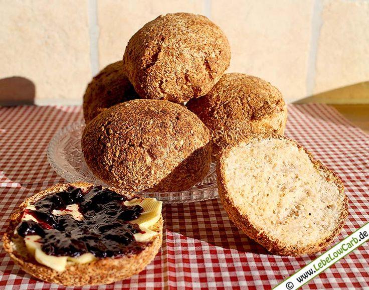 Low Carb Rezept: Grundrezept: Low Carb Brötchen (Semmeln) aus der Kategorie: Backwaren, Brot