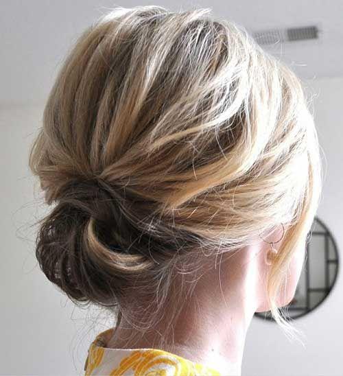 Chic Hochsteckfrisur für kurzes Haar