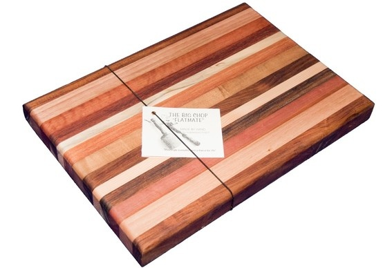 We use a variety of woods, such as blackwood, myrtle, celery top, sassafras and oak, to make our boards unique.