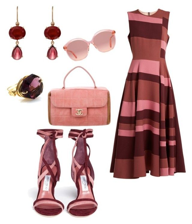 """""""Minimal chic outfit"""" by irini-stam on Polyvore featuring Roksanda, Jimmy Choo, Irene Neuwirth, Chanel and Gucci"""