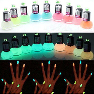 1 шт. конфеты цвета лаков для ногтей флуоресцентная световой неон светиться в темноте лаком ногтей лак эмаль купить на AliExpress
