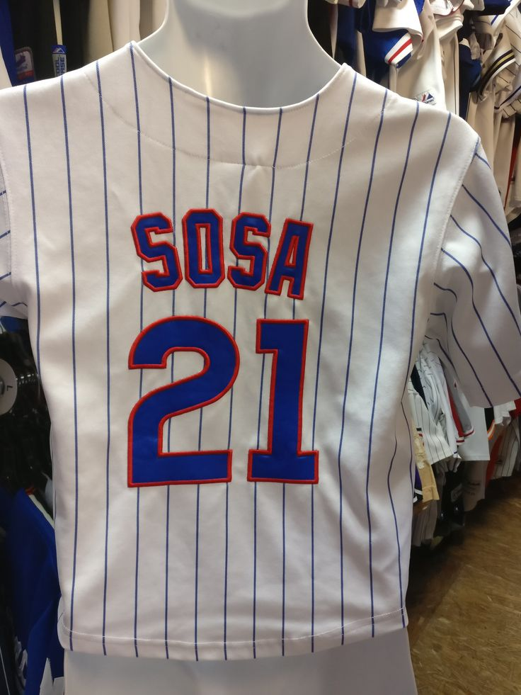 Vintage #21 SAMMY SOSA Chicago Cubs MLB Russell Athletic Jersey YS