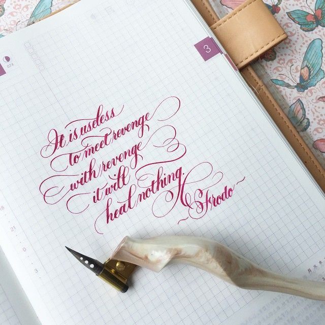 Good morning! More LOTR. #calligraphy #calligraphysg #copperplate…
