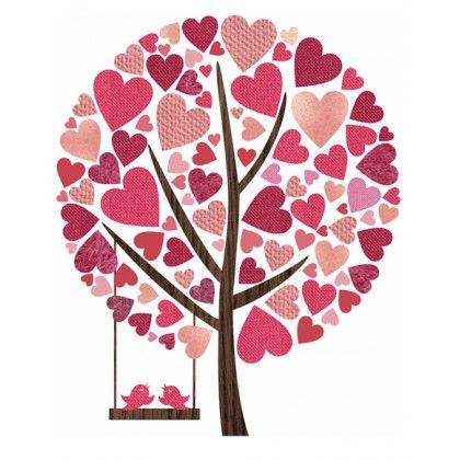 Harten boom muursticker