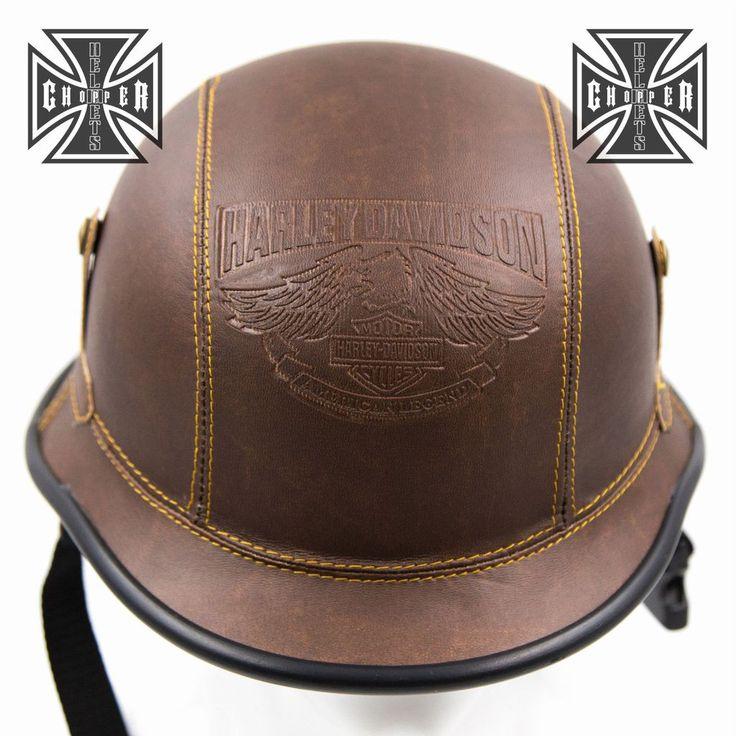 Harley WWII German Style Motorcycle Half Helmet Skull Cap Novelty – Stofma Hub
