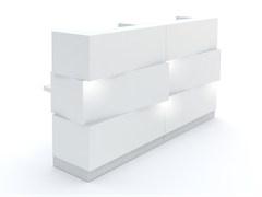 Banco per reception in HPL con illuminazione ZEN - MDD