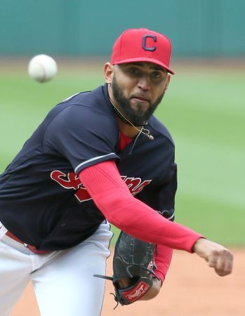 Cleveland Indians Danny Salazar, during the game against the Seattle Mariners, at Progressive Field,  on April 29, 2017.  (Chuck Crow/The Plain Dealer). Indians won 4-3