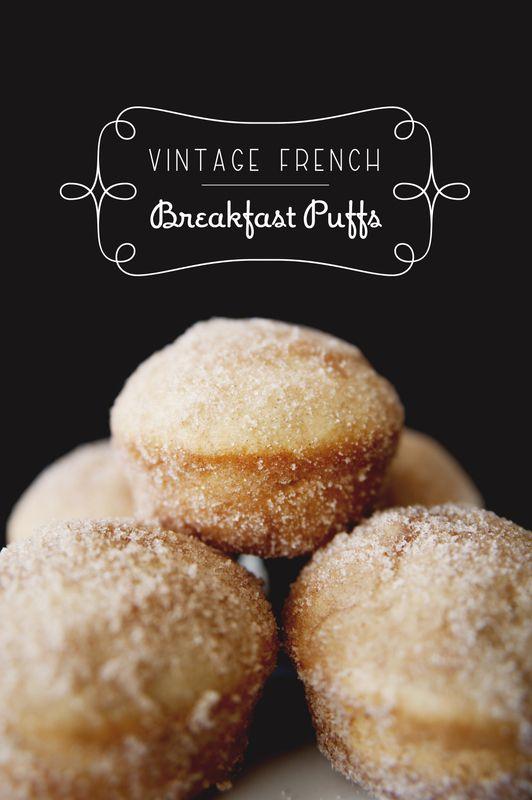 Vintage French Breakfast Puffs by Kitchy Kitchen ~ NOM! #breakfast #brunch #donut #muffin #recipe