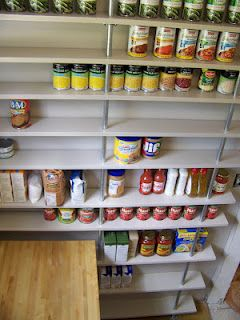 DIY Pantry - All cans visible!