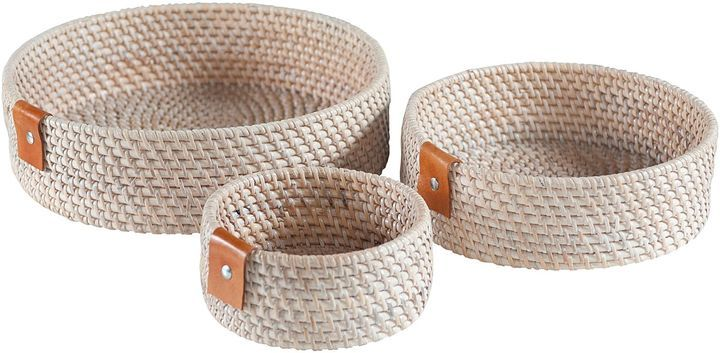 LS Collections Rattan Zeneth Round Tray (Set of 3) {affiliate}