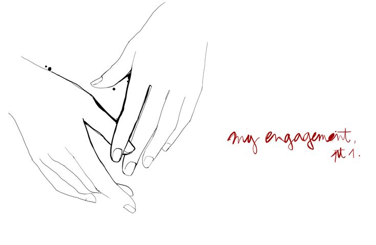 my engagement part 1 hands garance dore illustration