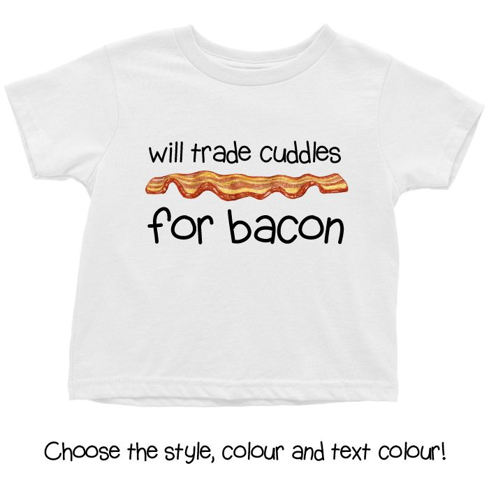 Cuddles for Bacon Baby T Shirt, Onesie or Hoodie