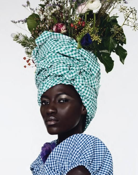 Photographer Armin Morbach shot this amazing editorial in the new issue of Tush magazine where model Kine Diouf was styled in peculiar and elaborate hats and headgear by Katrin Gerhardy. Theexcellent make-up was done by Claudia Perschmann.
