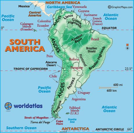 Best Maps Images On Pinterest East Africa Geography And Travel - Argentina landforms map