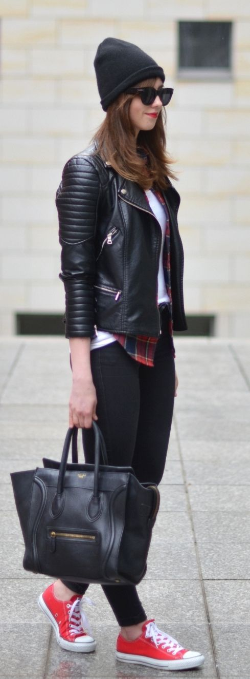 impressive outfit sneakers red 12