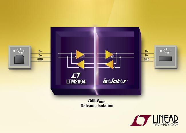 USB µModule Transceiver Protects Systems with 7500VRMS of Galvanic Isolation topntom.com