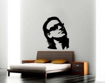 Large Music Bono U2 Rock Wall Art Decal Mural Sticker Bedroom Living Lounge Kitchen