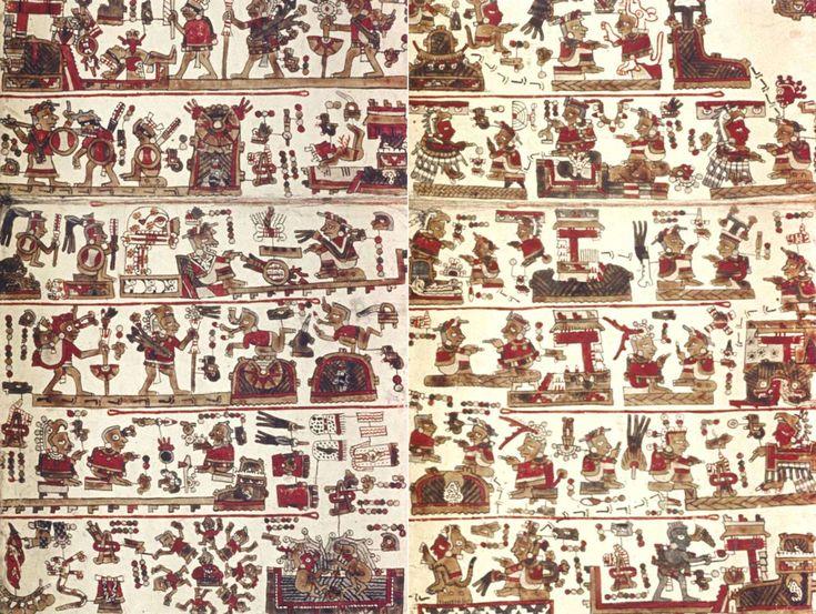 Des chercheurs ont réussi à révéler ce qui se cachait sous l'un des cinq manuscrits rescapés des Mixtèques, cette civilisation précolombienne. Les pictogrammes offrent un rare témoignage qui pourrait se révéler très précieux pour l'interprétation des vestiges archéologiques du sud du Mexique.