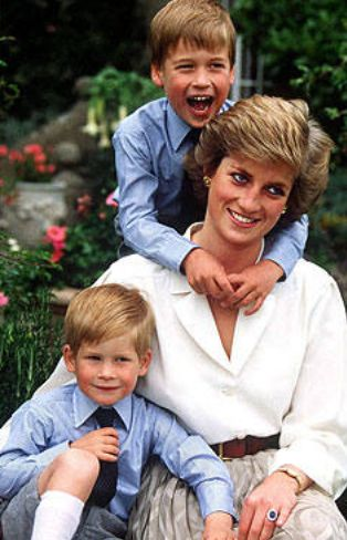 Princess Diana, Prince William, and Prince Harry                                                                                                                                                                                 More