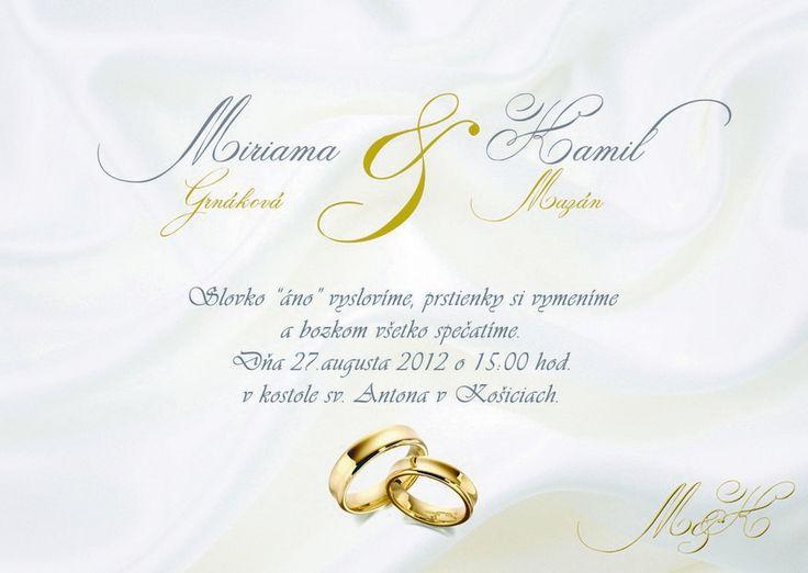 luxusní svatební oznámení od LarisDesign