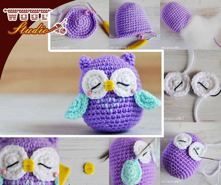 This crochet Amigurumi owl looks so sweet and cheerful and is soft enough for the little hands. Just follow the instructions and pattern from Craft Passion and you can work one up all your own! For full instructions and pattern - click here: http://ablog.link/38s. #Pattern #WoolStudio #Owls