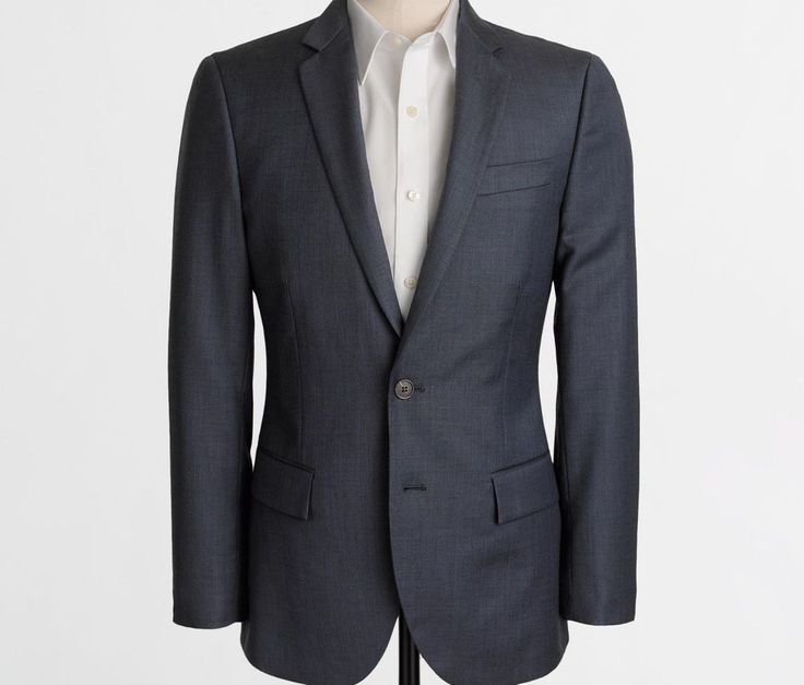 New J crew Men Thompson suit jacket in worsted wool item 47226 navy 42L $268 #JCrew #suitjacket