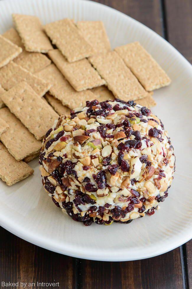 Cranberry Nut Dessert Cheese Ball
