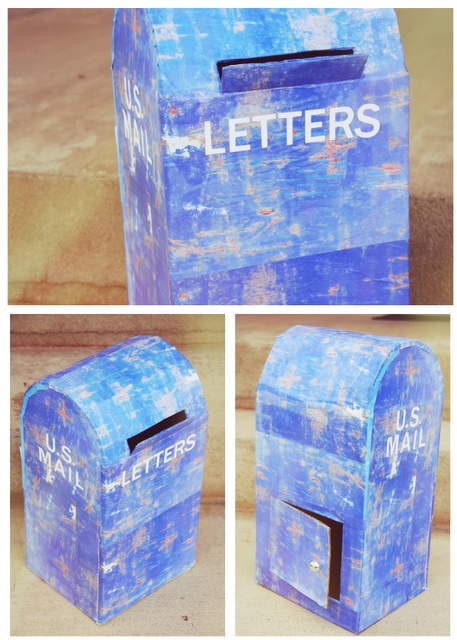 DIY Cardboard Mailbox! Claudia will continue the tradition of winning best V-day box! :D