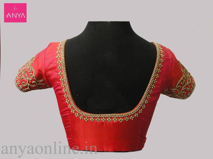 Appealing pearl work customized from Anya boutique.  #designer_blouse #Pearl_work #appealing