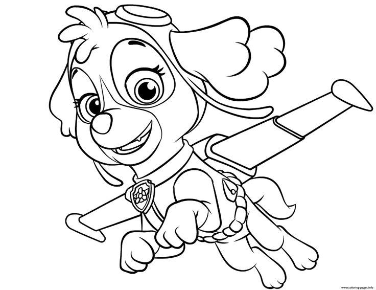 Print skye flying paw patrol coloring pages | Paw patrol ...
