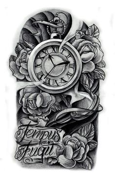 Tattoos On Pinterest Tattoo Designs For Women Tattoos And Body Art Clock Tattoo Clock Tattoo Design Gear Tattoo