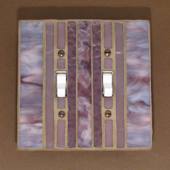 lavender and purple light switch cover - Decorative Switch Plates