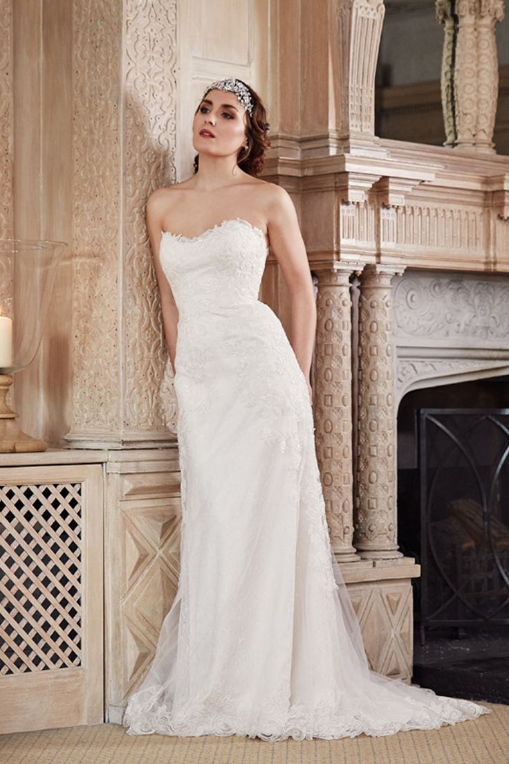 Benjamin Roberts 2606 gorgeous strapless embellished gown - perfect for a glamorous city wedding http://www.benjaminroberts.co.uk/dresses/benjamin-roberts-2606/