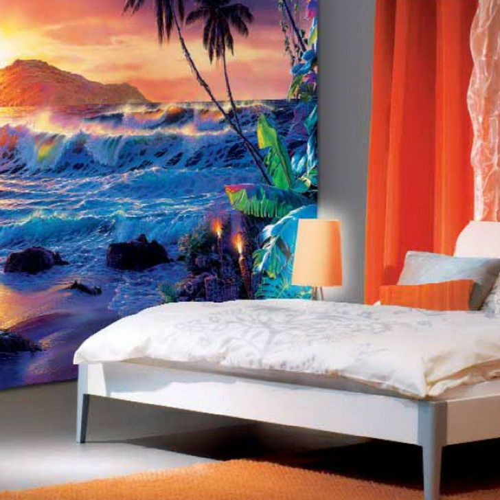 17 best ideas about teenage beach bedroom on pinterest for Beach mural painting