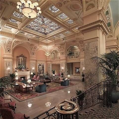 Hermitage Hotel, Nashville; asked my beau to marry me on the second floor balcony, this was our view of the historic lobby...