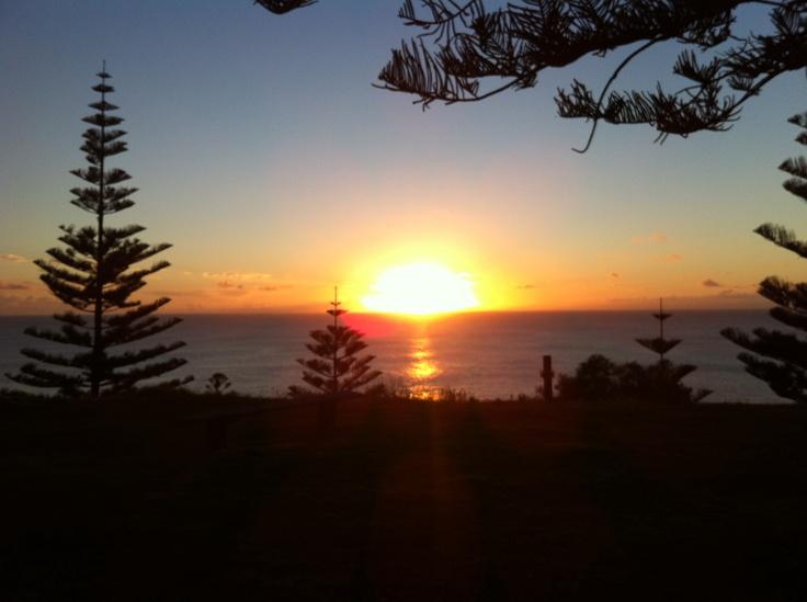 Sunset after work on Norfolk Island