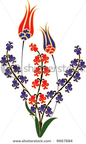 ottoman tulip and hyacinth motif