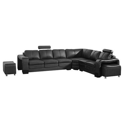 Phenomenal Majestic Black 6 Seater Corner Sofa Sectional Sofa On Spiritservingveterans Wood Chair Design Ideas Spiritservingveteransorg