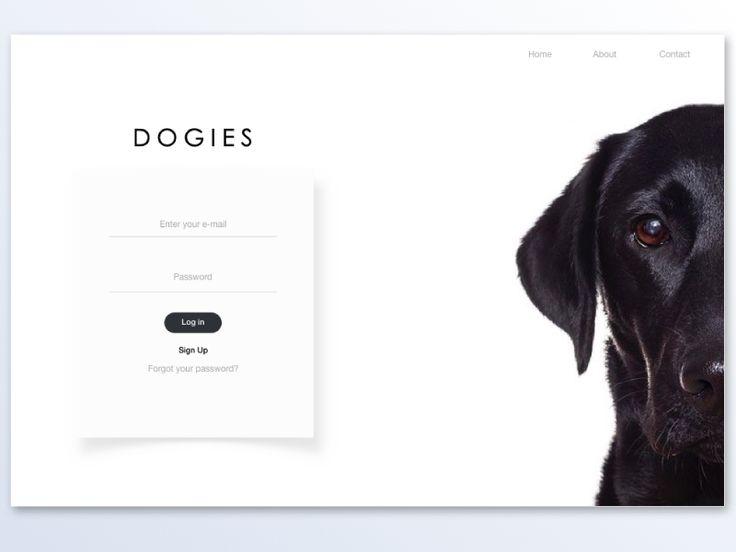 Dogies sign in page / Desktop version