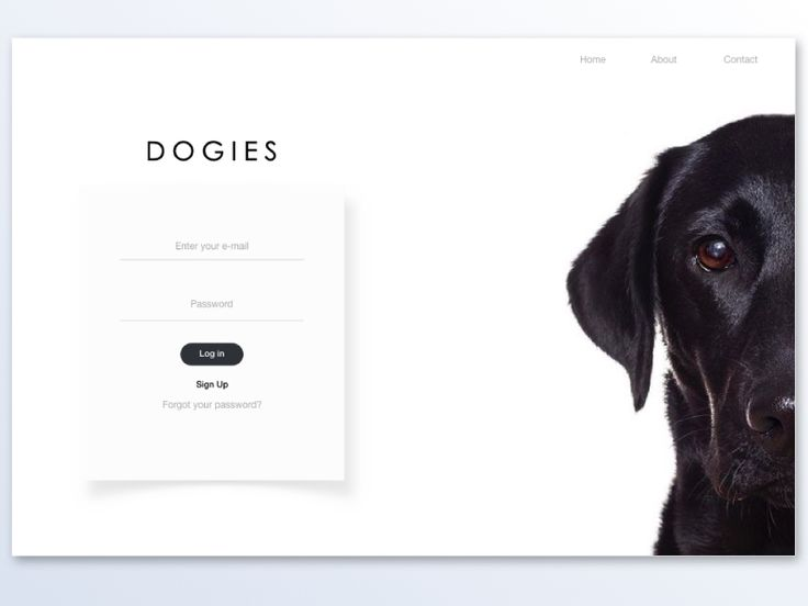 Dogies sign in page / Desktop version