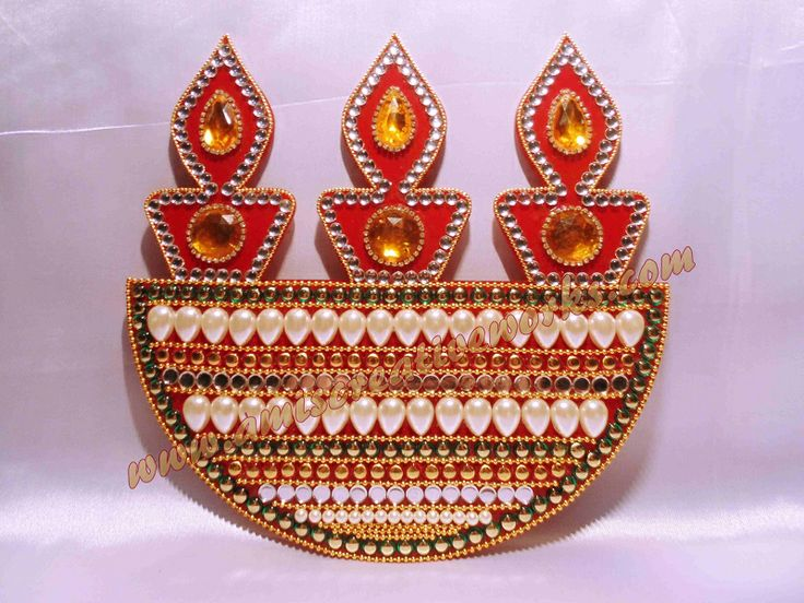 1000 images about kundan crafts on pinterest diwali for Agal vilakku decoration