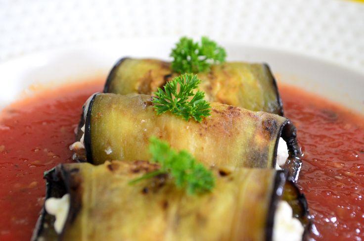 Canelones de berenjena   Eggplant rolls